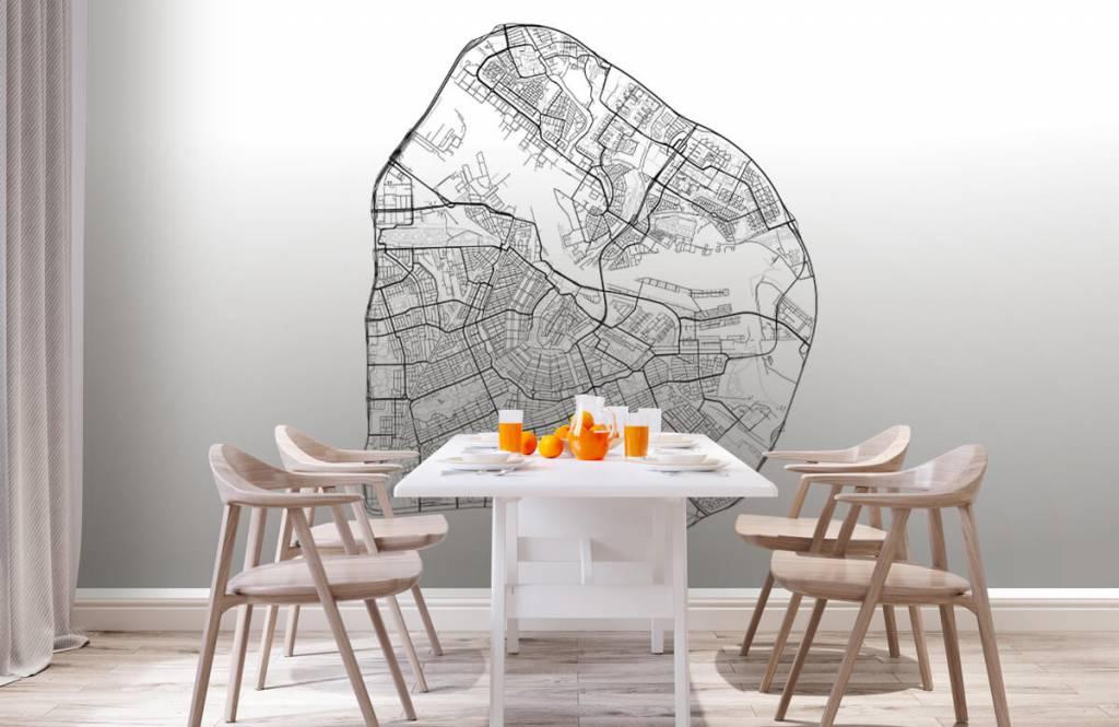 Kaarten - Plattegrond van Amsterdam, wit - Garage 2