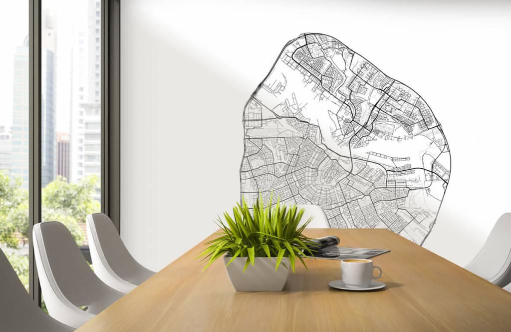 Kaarten - Plattegrond van Amsterdam, wit - Garage 3