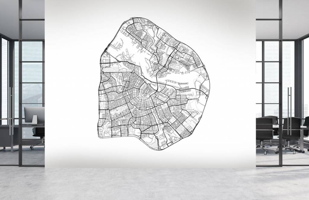 Kaarten - Plattegrond van Amsterdam, wit - Garage 4