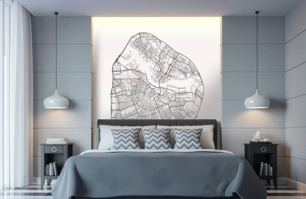 Kaarten - Plattegrond van Amsterdam, wit - Garage 8
