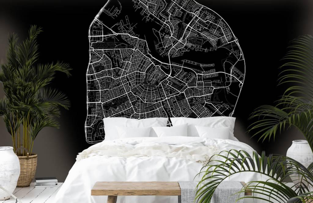 Kaarten - Plattegrond van Amsterdam, zwart - Gang 7