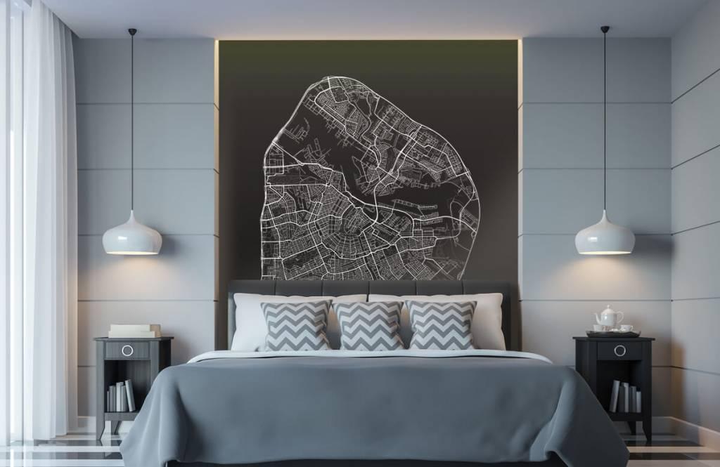 Kaarten - Plattegrond van Amsterdam, zwart - Gang 8