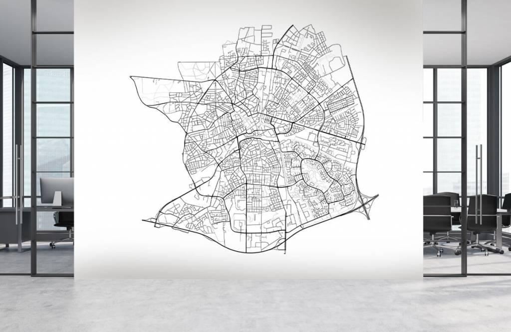 Kaarten - Plattegrond van Apeldoorn, wit - Kantine 3