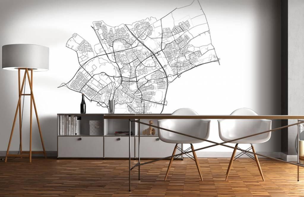 Kaarten - Plattegrond van Den Bosch, wit - Ontvangstruimte 1
