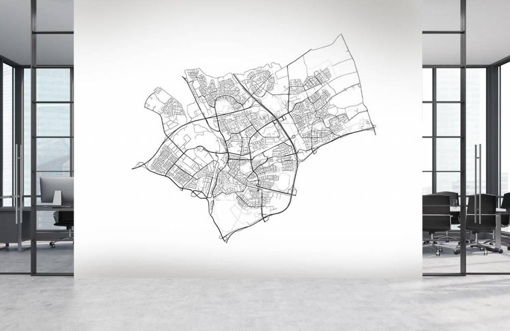 Kaarten - Plattegrond van Den Bosch, wit - Ontvangstruimte 2