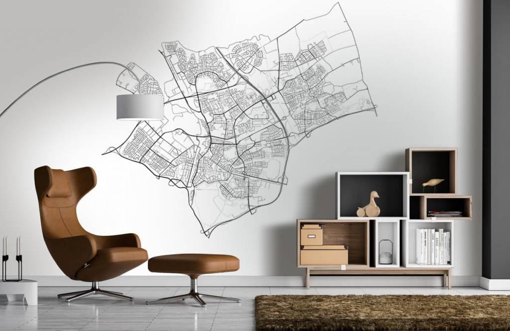 Kaarten - Plattegrond van Den Bosch, wit - Ontvangstruimte 3