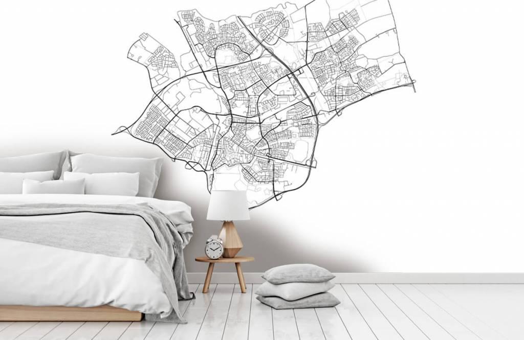 Kaarten - Plattegrond van Den Bosch, wit - Ontvangstruimte 6