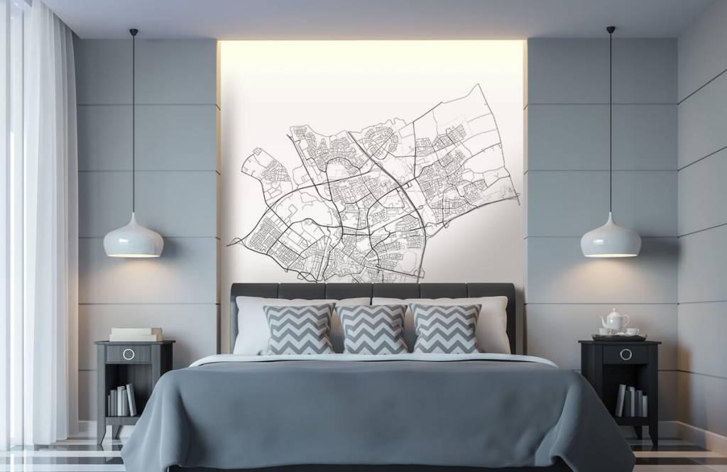 Kaarten - Plattegrond van Den Bosch, wit - Ontvangstruimte 7