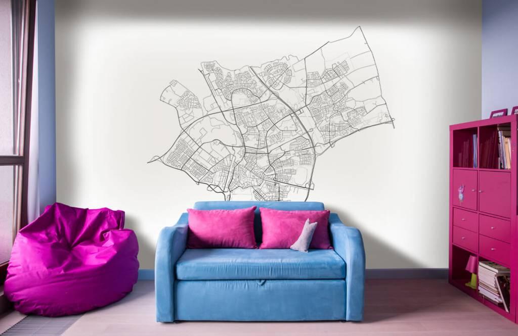 Kaarten - Plattegrond van Den Bosch, wit - Ontvangstruimte 9