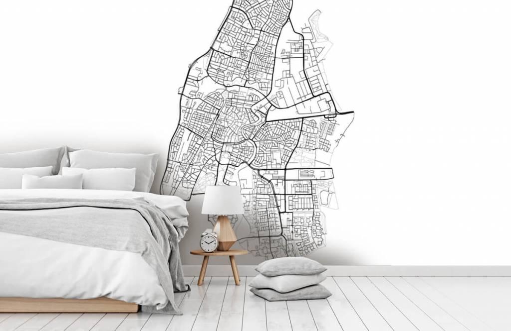 Kaarten - Plattegrond van Haarlem, wit - Ontvangstruimte 5