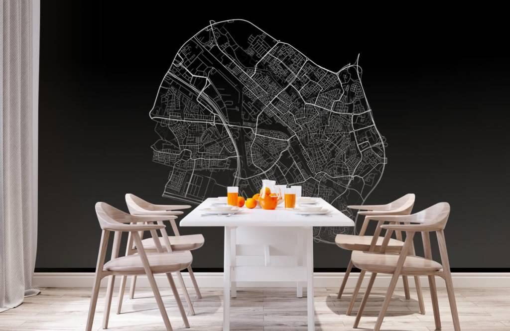 Kaarten - Plattegrond van Utrecht, zwart - Kantine 1