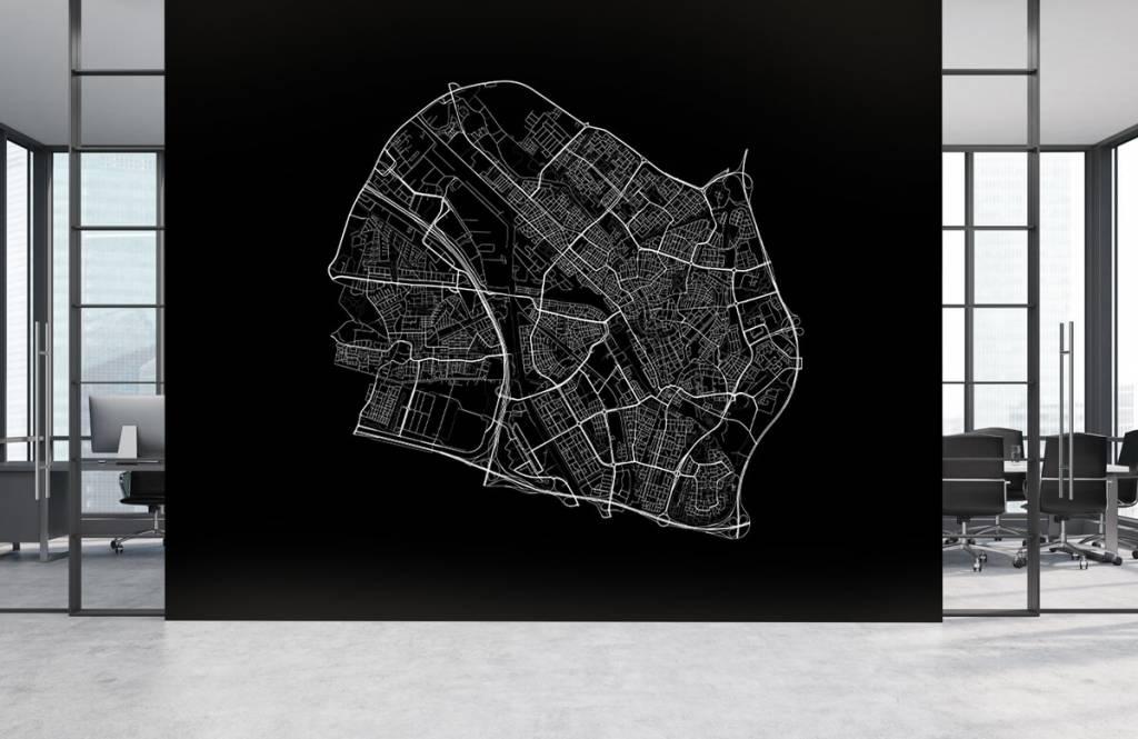 Kaarten - Plattegrond van Utrecht, zwart - Kantine 3