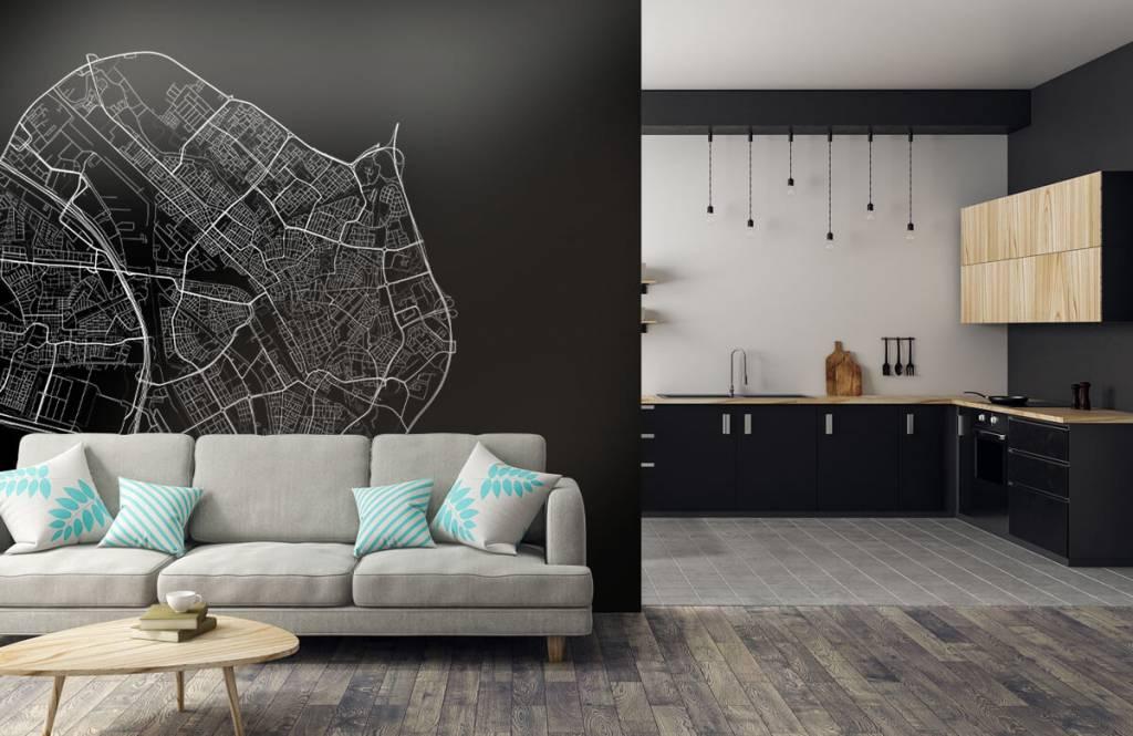 Kaarten - Plattegrond van Utrecht, zwart - Kantine 5