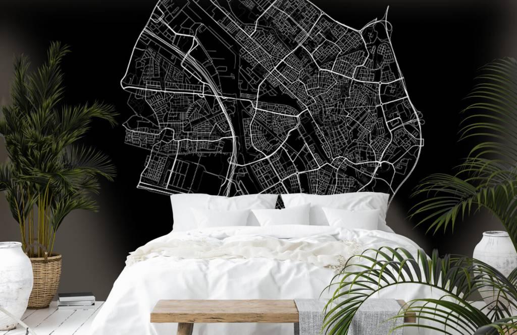 Kaarten - Plattegrond van Utrecht, zwart - Kantine 6