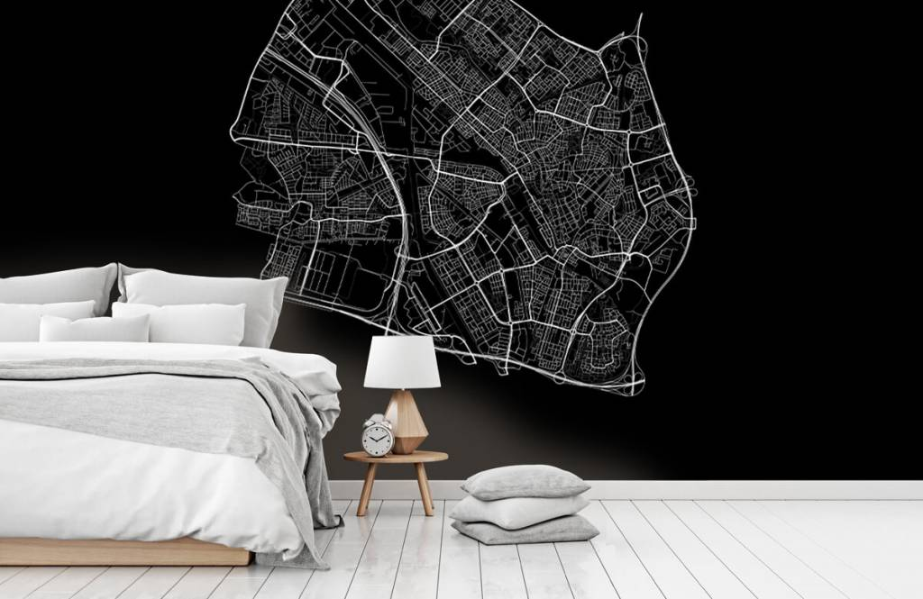 Kaarten - Plattegrond van Utrecht, zwart - Kantine 7