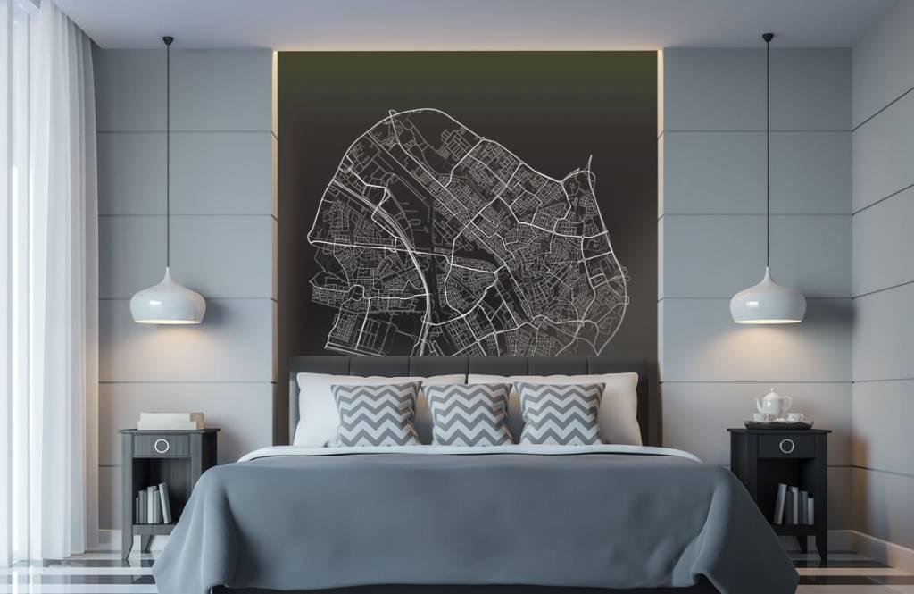 Kaarten - Plattegrond van Utrecht, zwart - Kantine 8