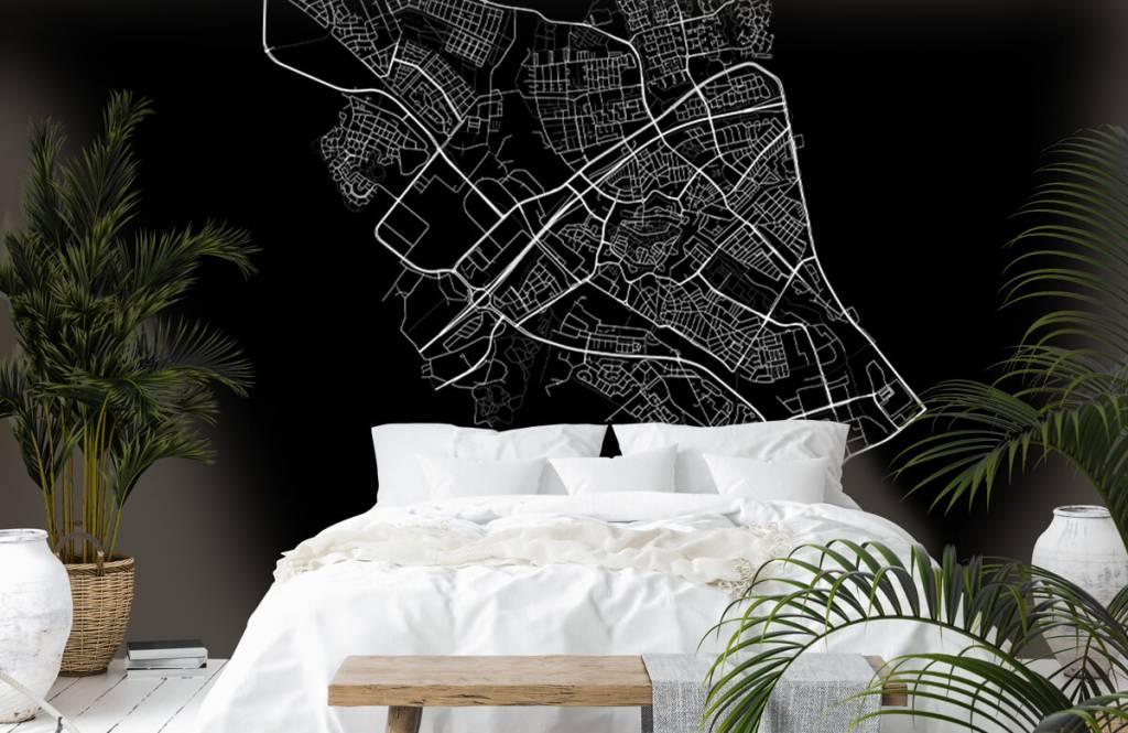 Kaarten - Plattegrond van Zwolle, zwart - Verkoopafdeling 6