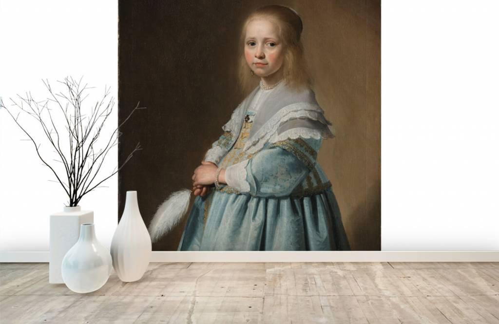 Rijksmuseum - Portret van een meisje in het blauw - Woonkamer 1