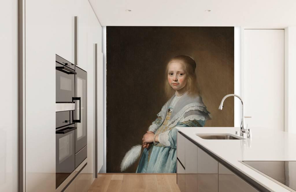 Rijksmuseum - Portret van een meisje in het blauw - Woonkamer 3