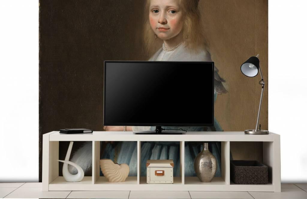 Rijksmuseum - Portret van een meisje in het blauw - Woonkamer 4
