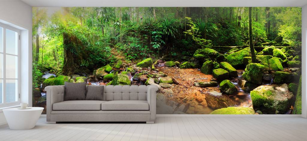 Bos behang - Regenwoud - Vergaderruimte 7