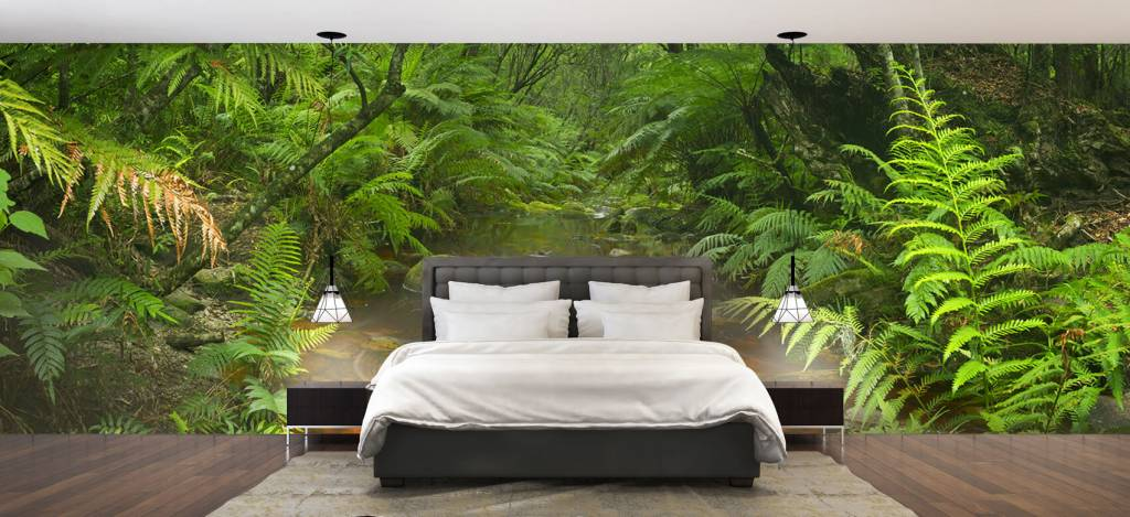 Bomen - Riviertje in het regenwoud - Hobbykamer 2
