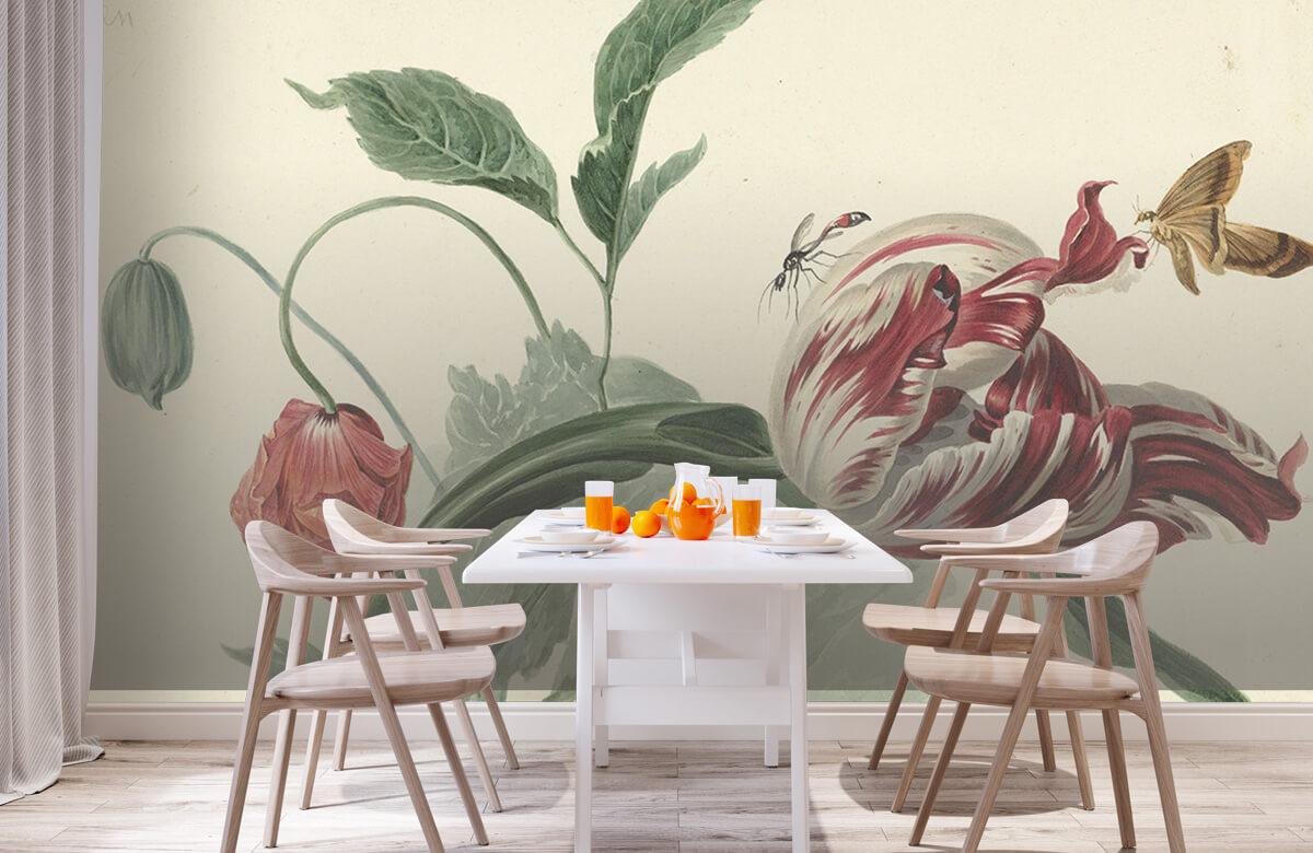 Kunst Tulp en een papaver, Willem van Leen 1