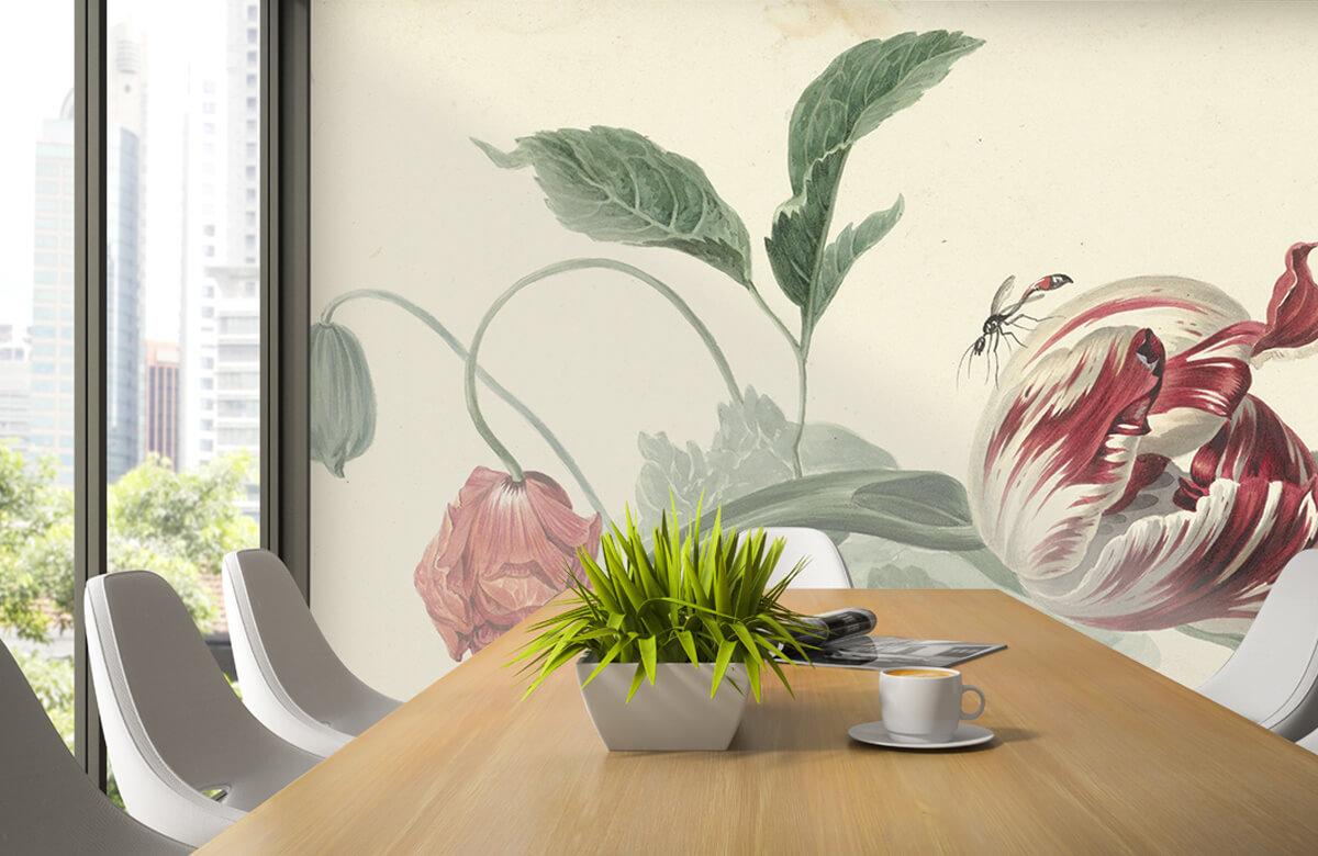 Kunst Tulp en een papaver, Willem van Leen 2