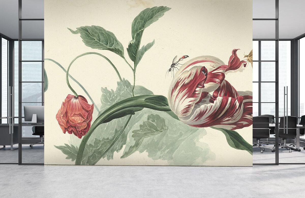 Kunst Tulp en een papaver, Willem van Leen 3
