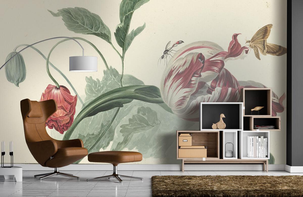 Kunst Tulp en een papaver, Willem van Leen 4