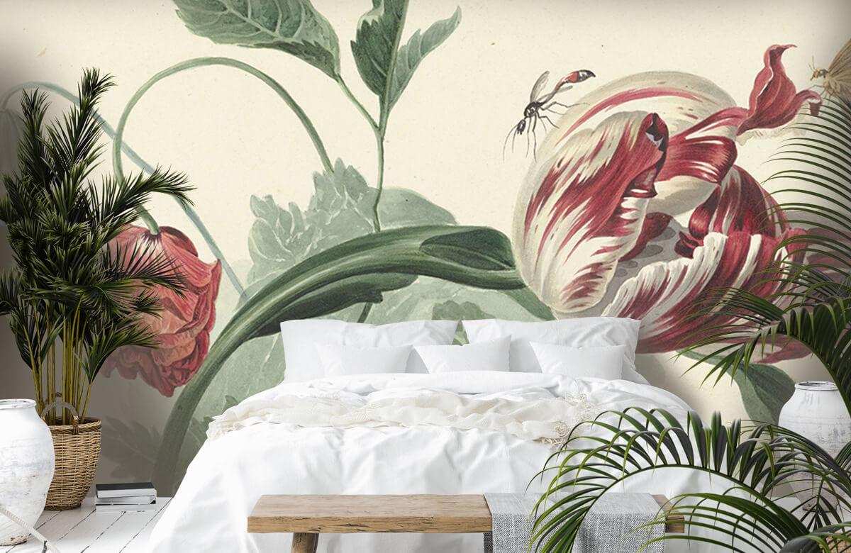 Kunst Tulp en een papaver, Willem van Leen 6