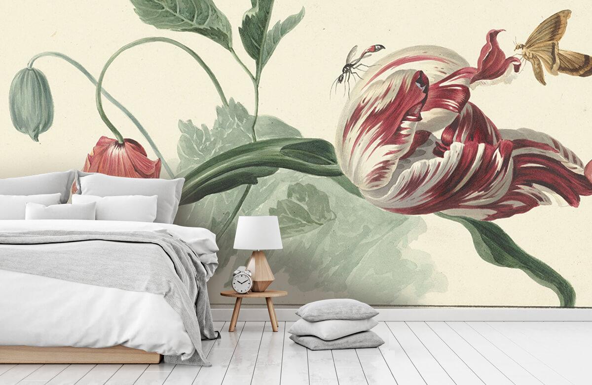 Kunst Tulp en een papaver, Willem van Leen 7