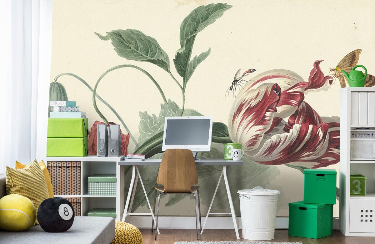Kunst Tulp en een papaver, Willem van Leen 9