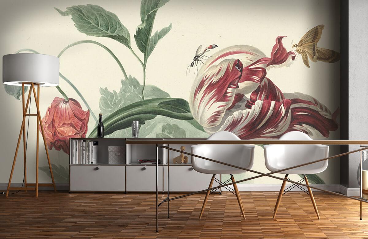 Kunst Tulp en een papaver, Willem van Leen 11