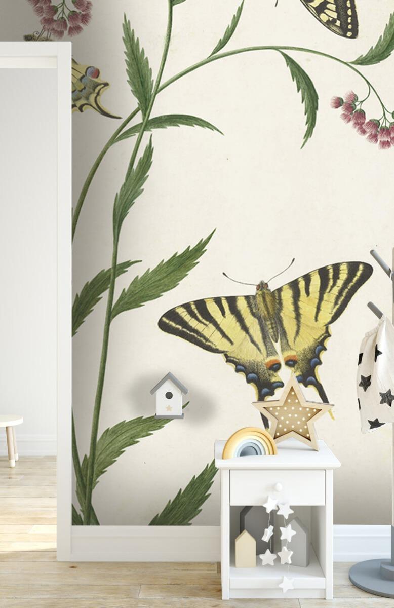 Kunst Vier vlinders op bloemen, Paulus Knogh 6