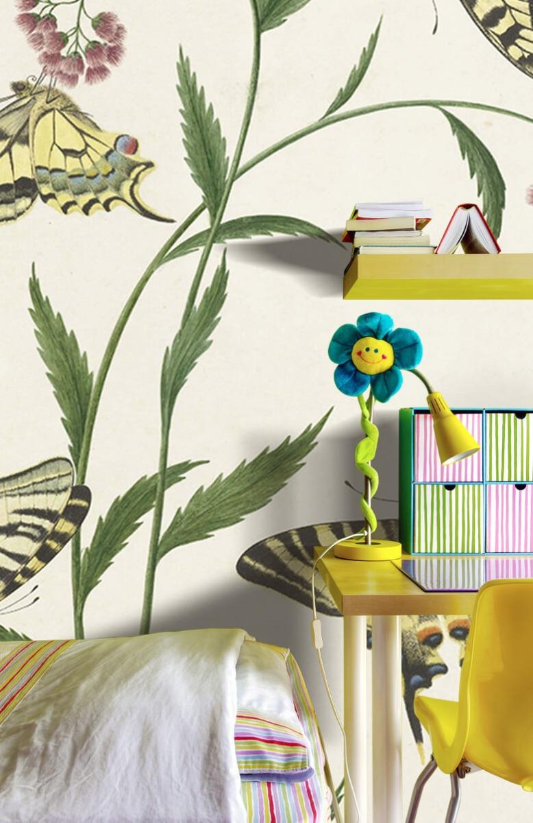 Kunst Vier vlinders op bloemen, Paulus Knogh 7