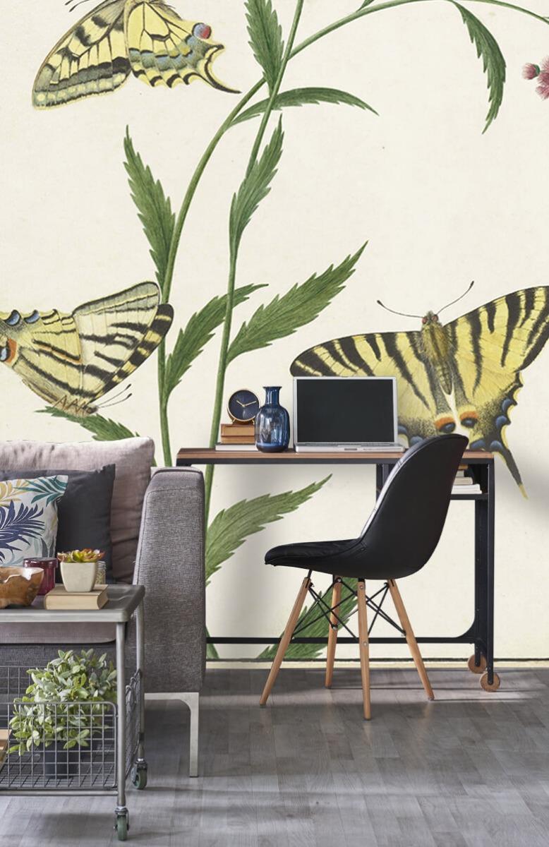 Kunst Vier vlinders op bloemen, Paulus Knogh 8