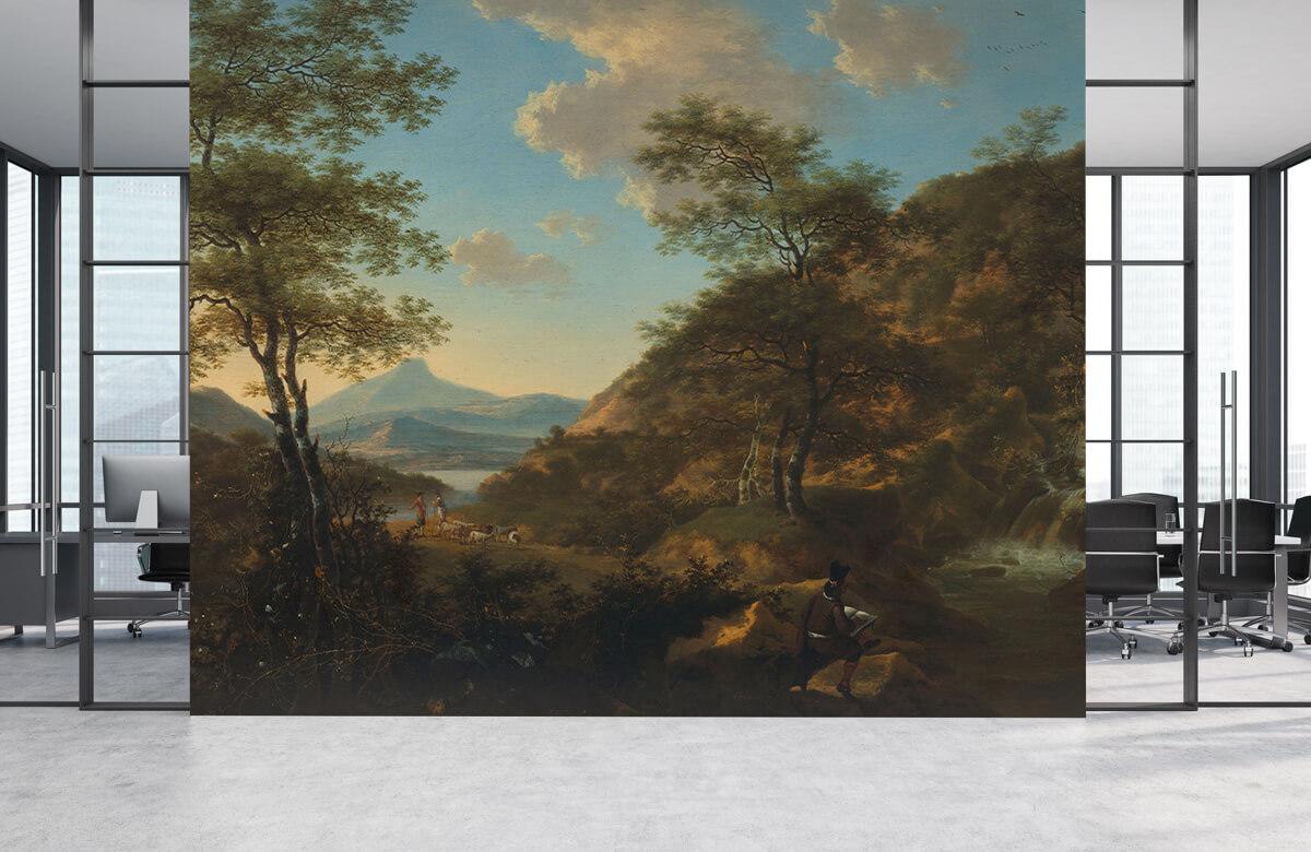Rijksmuseum - Italiaans landschap met tekenaar - Woonkamer 3