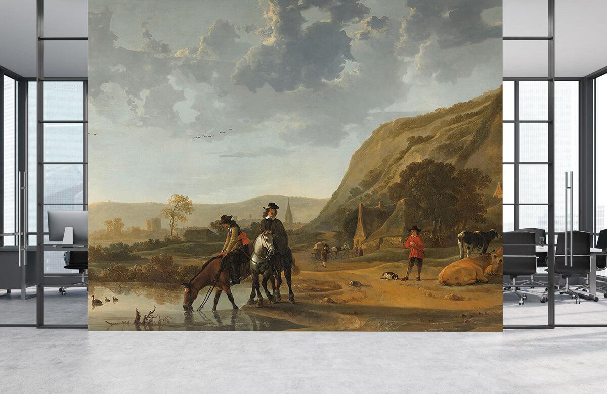 Rijksmuseum - Rivierlandschap met ruiters - Woonkamer 3