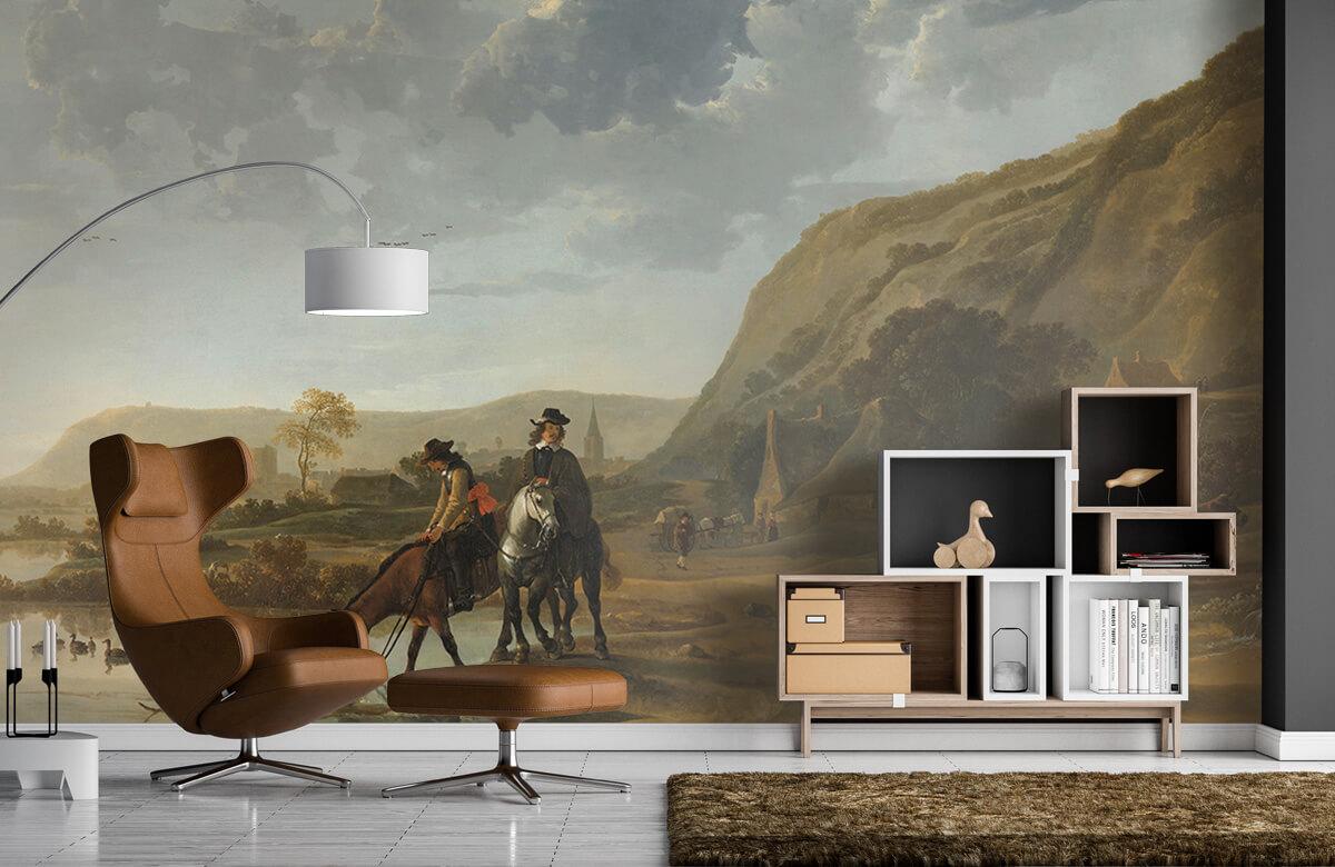 Rijksmuseum - Rivierlandschap met ruiters - Woonkamer 4