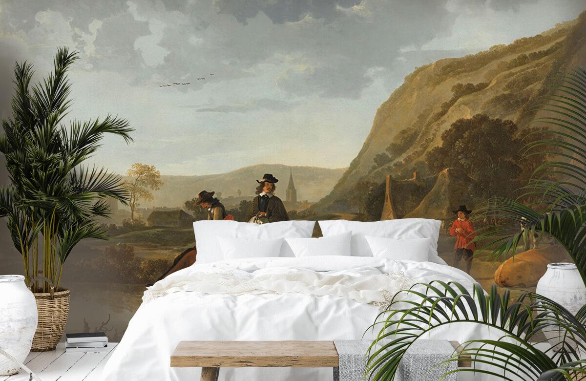 Rijksmuseum - Rivierlandschap met ruiters - Woonkamer 6