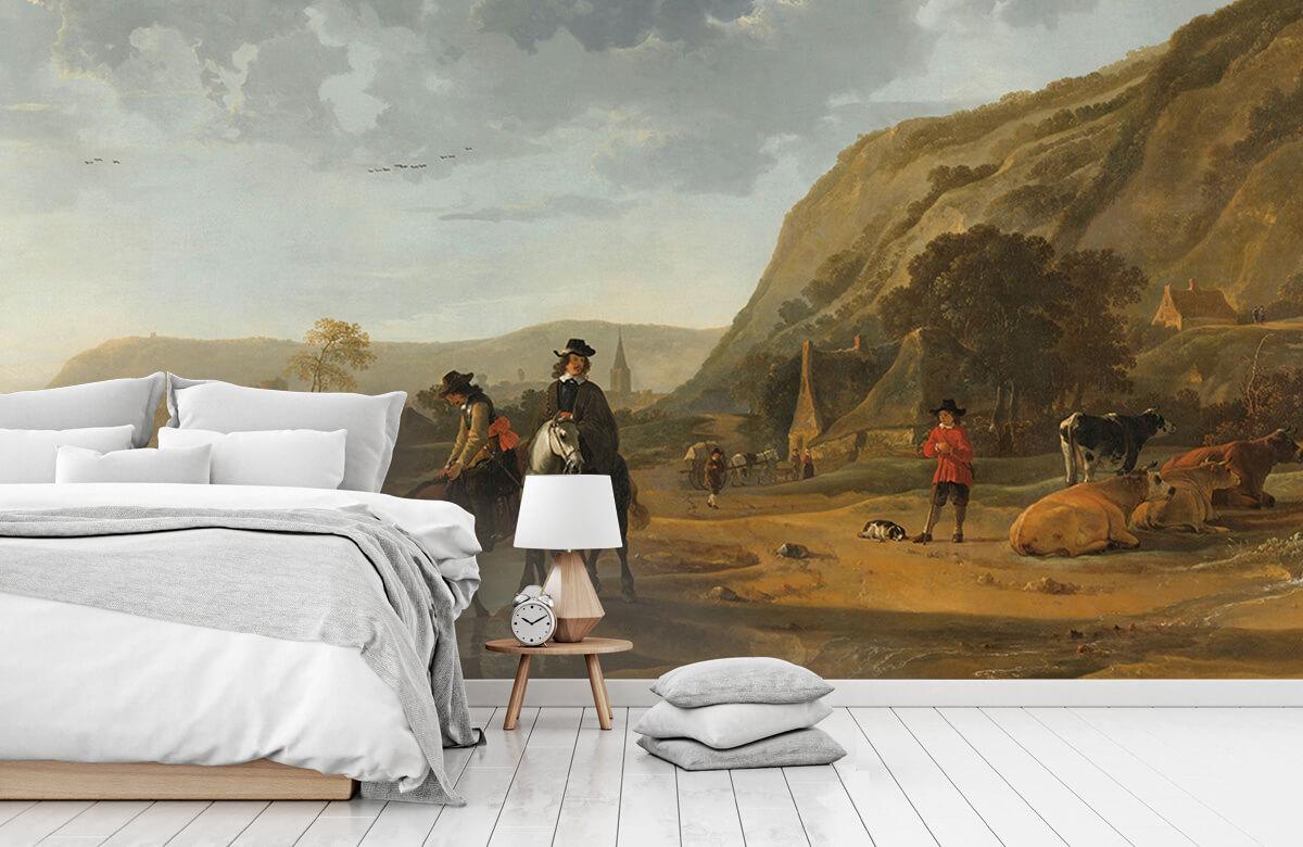 Rijksmuseum - Rivierlandschap met ruiters - Woonkamer 7