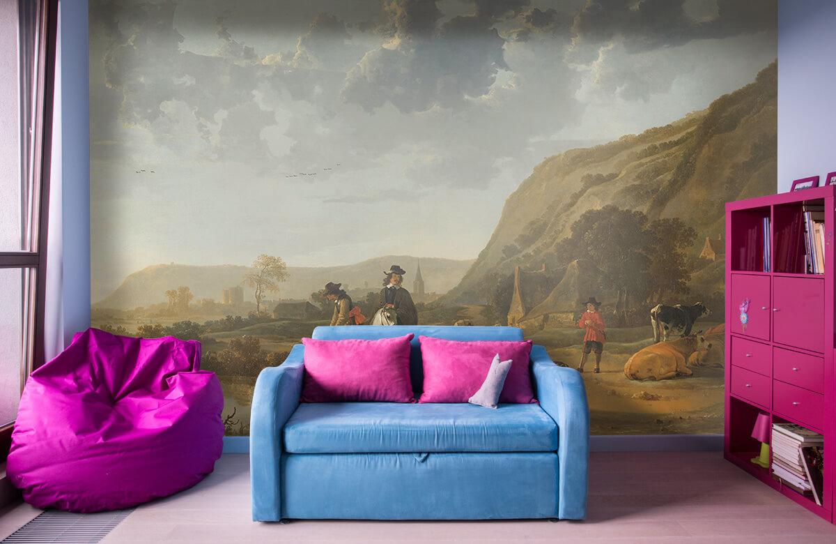 Rijksmuseum - Rivierlandschap met ruiters - Woonkamer 10