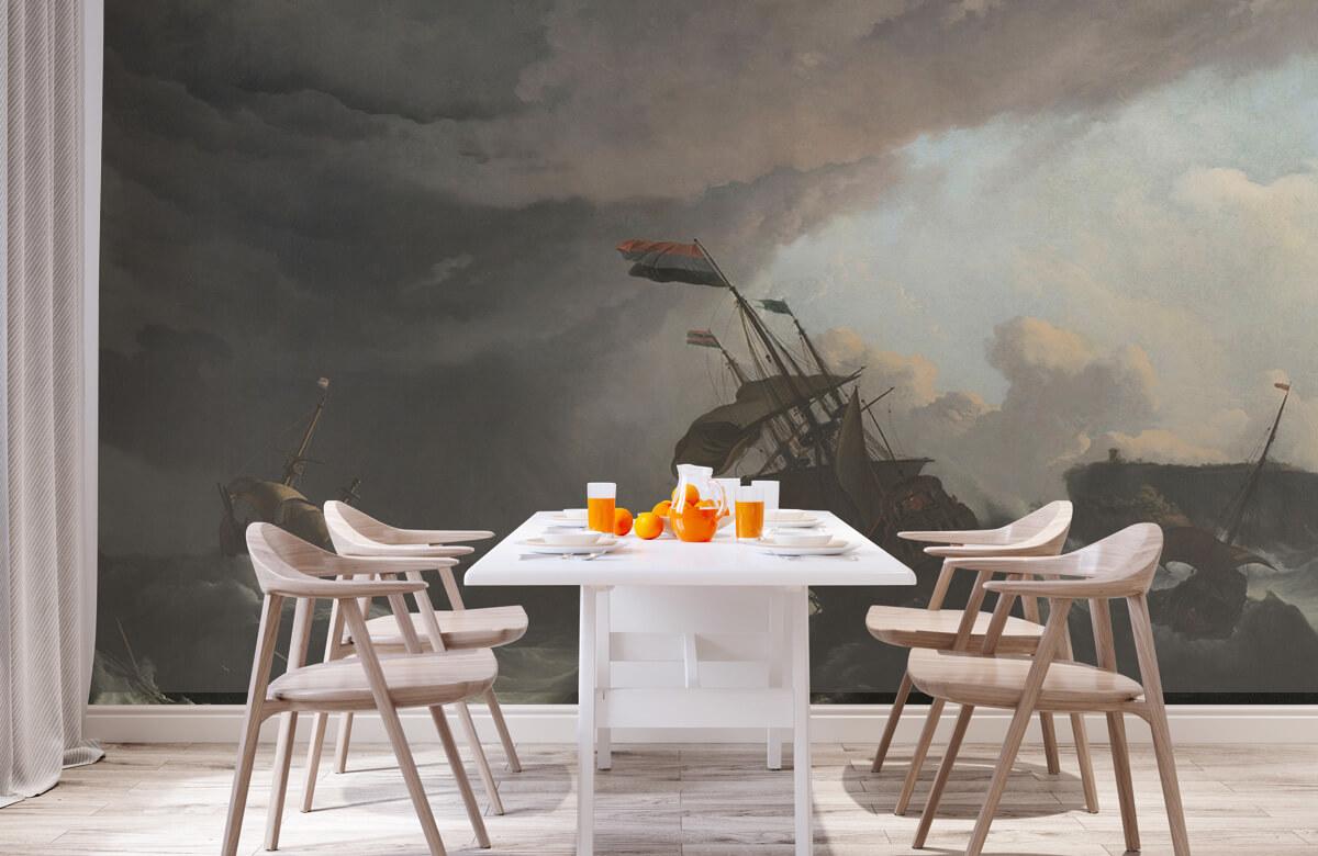 Overige - Oorlogsschepen tijdens een storm - Slaapkamer 1