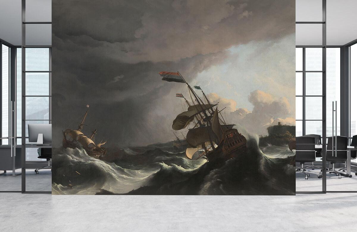 Overige - Oorlogsschepen tijdens een storm - Slaapkamer 3