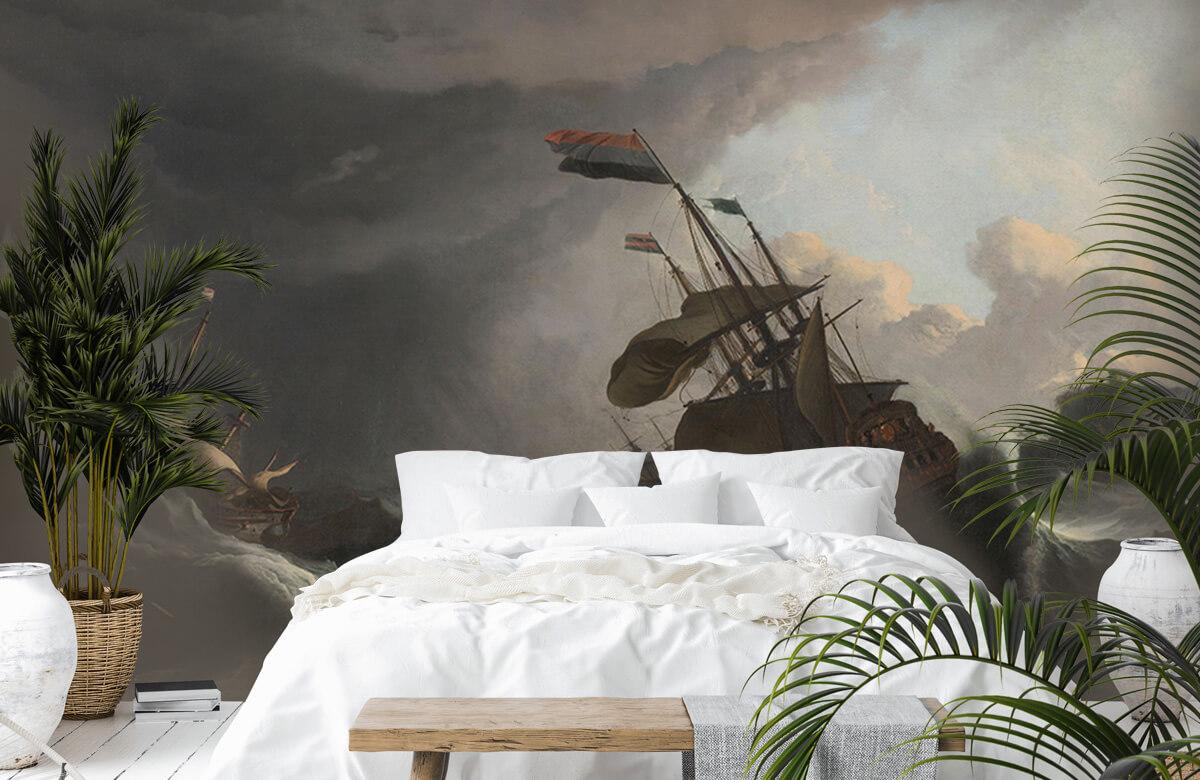 Overige - Oorlogsschepen tijdens een storm - Slaapkamer 6