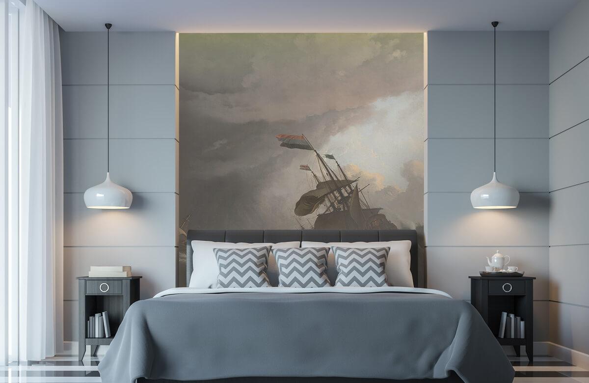 Overige - Oorlogsschepen tijdens een storm - Slaapkamer 8