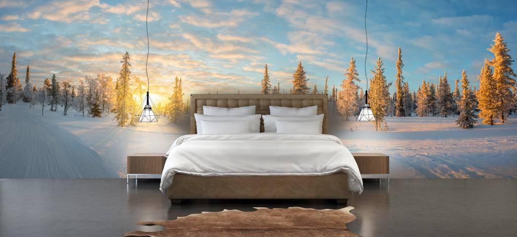 Winter - Sneeuwlandschap bij zonsondergang - Kantine 3