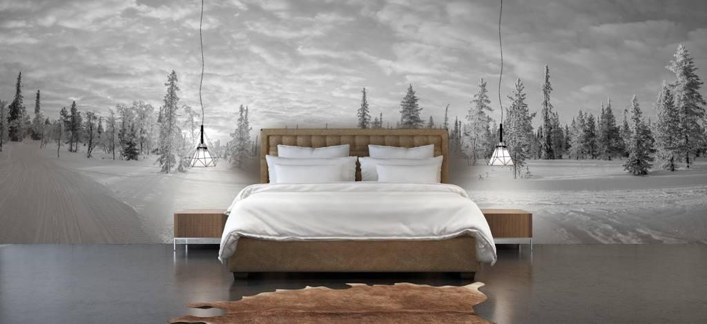 Winter - Sneeuwlandschap bij zonsondergang - Kantine 4