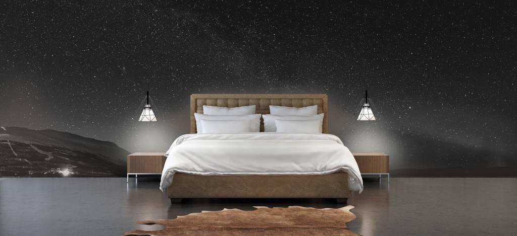 Noorderlicht - Sterrenhemel met noorderlicht - Slaapkamer 2